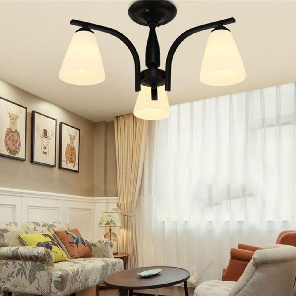 2016 new modern Led Ceiling Lights glass lampshade ceiling lamp for bedroom living room home lighting fixtures lamparas de techo new modern led ceiling lights for living room bedroom plafon home lighting combination white and black home deco ceiling lamp