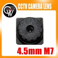5 PCS f2.0 4.5mm M7 5MP 67 Graus de Visualização Built Filtro IR Mini CCTV Lens para TODOS OS HD Mini Câmeras de CCTV