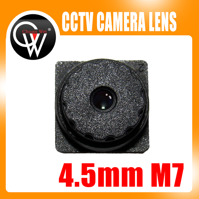 5PCS 5MP f2.0 4.5mm M7 67Degrees Viewing Built in IR Filter Mini CCTV Lens for ALL HD Mini CCTV Cameras