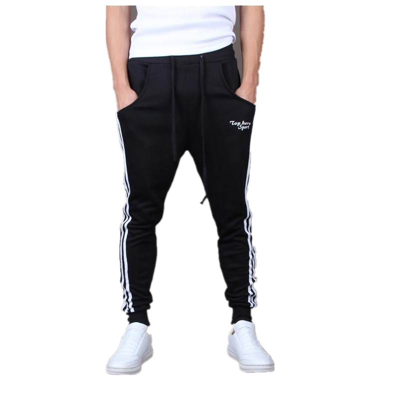 2018 Spring Side Stripe Patchwork Casual Pants Mens Loose Hip Hop Jogger Pants 3 Color Drawstring Stylish Sweatpants ...