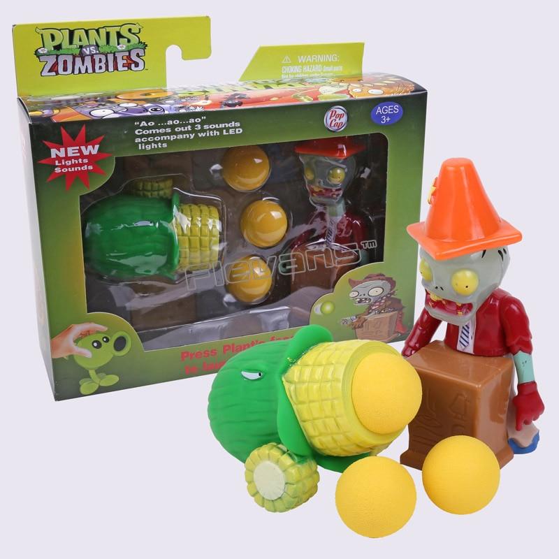 PVZ Plants vs. Zombies Toys Sounds Lights Plants vs Zombies Peashooter PVC Action Figures with retail box 11 styles vs s720 10g 3cxl куплю