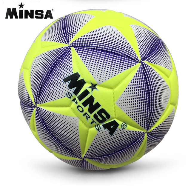 MINSA Kid football goal Soccer Ball Size 4 Sewing machine Football Ball PU Youth Student Soccer Balls Amateur Training FootBall