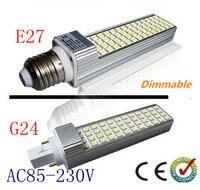 מחיר קידום LED תירס אור 13 w 5050 SMD E27/G24 ניתן לעמעום LED מנורת תאורת הנורה 52 נוריות smd led אורות יבלות CE ROHS