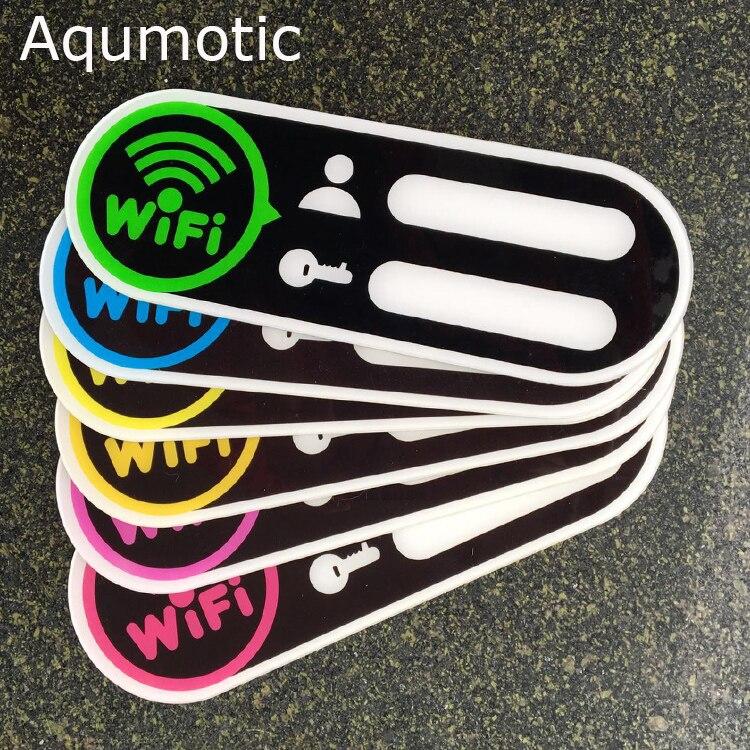 Aqumotic Wifi Passwort Tafel Zeichen Aufkleber Wifi Logo 1 stück Acryl Kostenloser Wifi Zone Aufkleber Konto Anzahl Passwort Zeichen Decor