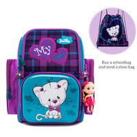 Delune مصنع 5-9 سنوات جديد الحقائب المدرسية الظهر العظمية حقيبة الكرتون Mochila Infantil الأطفال حقيبة المدرسة للفتيات