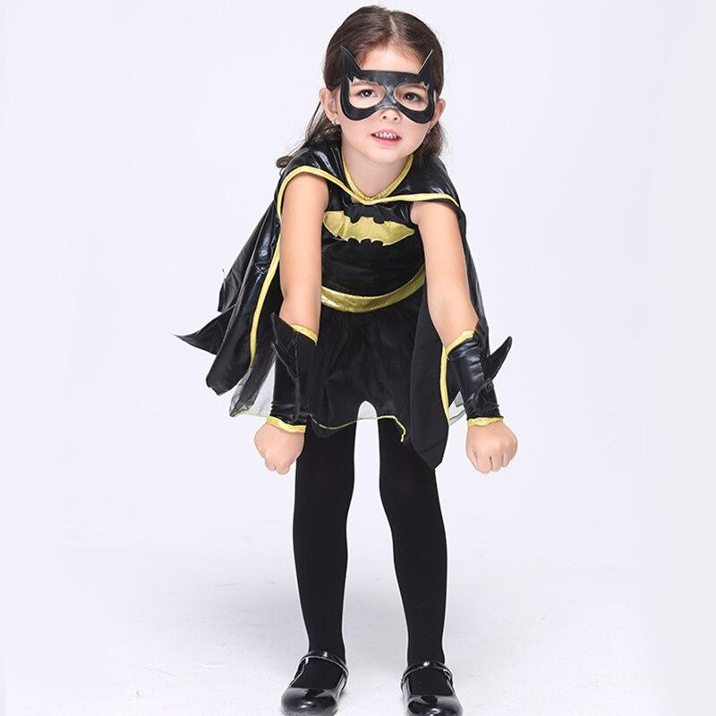 Directe verkoop Meisjes Batman Cosplay Kleding Kind Fantasie Kostuum - Kinderkleding