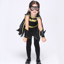 Direct Selling Girls Batman Cosplay Clothing Child Fantasy Fancy Dress Kids Carnival Party Halloween Costume EK074