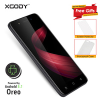 In Stock 3G Unlocked XGODY X6 Smartphone 5.0 Inch Android 8.1 Oreo Quad Core 1G+8G 2500mAh Mobile Phone Cellphone Celular 5.0MP