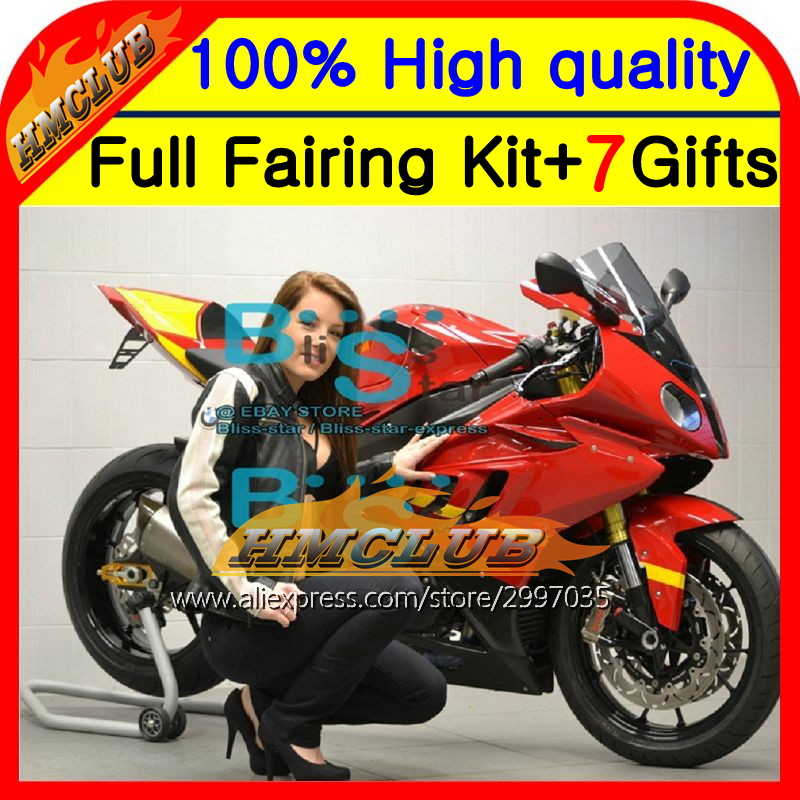 Body For BMW S1000R 09-14 S 1000R Red black S1000RR 2HM88 S 1000 RR 09 10 11 12 13 14 S 1000RR S1000 RR Fairing Glossy red image
