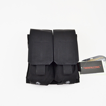 Military Tactical Double Rifle AR Magazine Pouch Knife Flashlight Sheath Airsoft Hunting Ammo Camo Molle Pouch Bags TW-M014