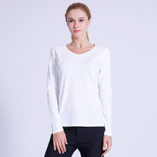 PREISEI PIMA Cotton White T Shirt Plus Size Long Sleeve Tshirt V Neck Casual Female T-shirt  Tee Tops футболка женская PV201W цена 2017