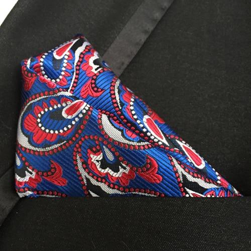 Luxury Men Formal Woven Pocket Square Classic Paisley Handkerchief