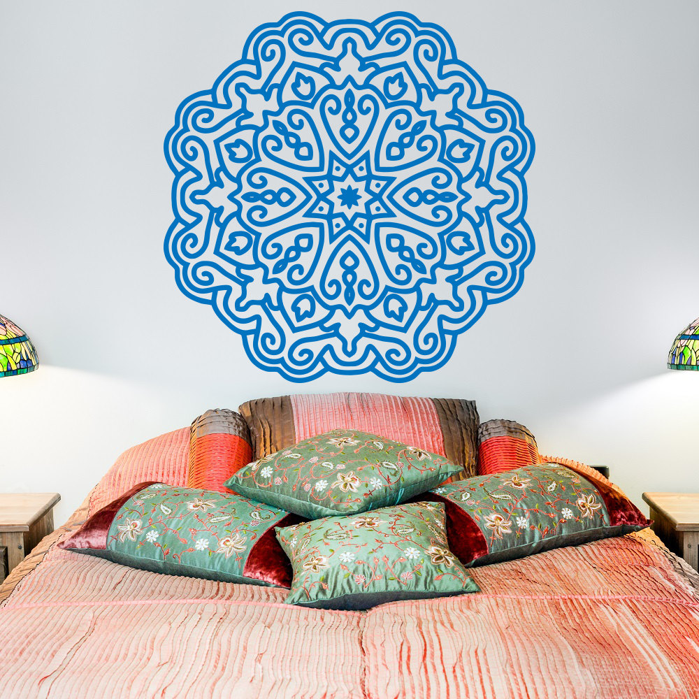 Meditation Home Decor: Yoga Wall Decal Mandala Lotus Flower Decals Indian Decor