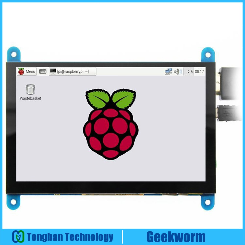 Raspberry Pi 3 Model B 5 Inch 800x480 HDMI Touch Capacitive LCD Screen Display Monitor for
