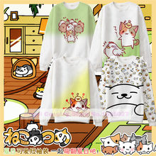 Game Neko Atsume Cute Cat Space Cotton Made Hoodie Long sleeve Sweat shirt 7 styles in S~XXXL in stock free shipping(China)