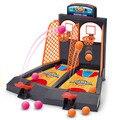 Doble dedo baloncesto juego de disparos de ojo-mano de coordinación del cerebro de los niños regalos de juguetes temprana de escritorio