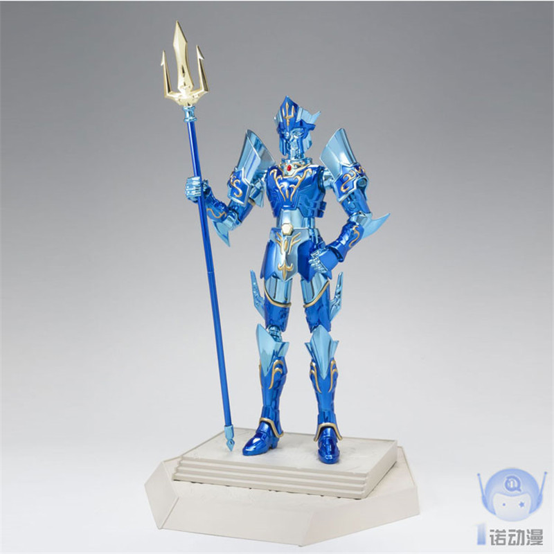 Original Bandai Saint Seiya Saint Cloth Myth Poseidon 15th Anniversary Ver PVC Action Figure Model Toys Marina Figurines 1