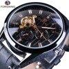 Forsining Fashion Tourbillion Luminous Hands Display Genuine Leather Men Mechanical Watch Top Brand Luxury Automatic Wrist