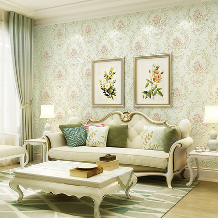 Luxury classic wall paper home decor background wall - Wallpaper one wall in living room ...