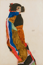 nude canvas paintings portrait picture modern art  home decor giant poster female nude Moa 1911 By Egon Schiele masterpiece female nude