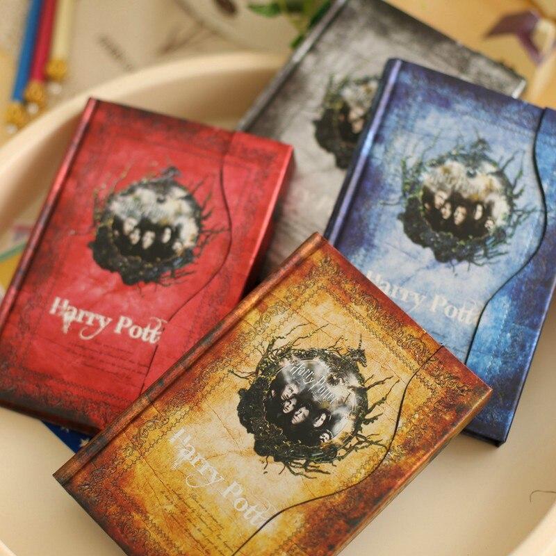 Retro cubierta dura de Harry Potter portátil A6 libro de magia de los viajeros diario con 2018-2019 planificador programa horario Grimorio regalos