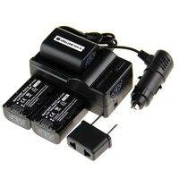 New Digital Boy 3 X Battery NP FV50 FV50 NP FV50 For Sony Car Charger Plug