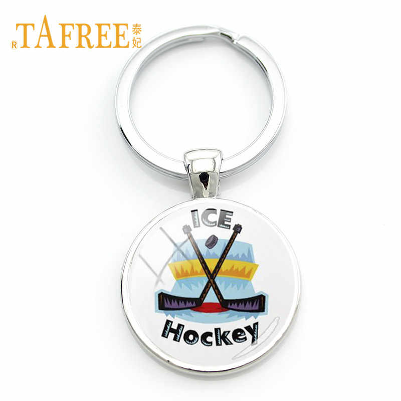 TAFREE High Quality Ice Hockey Stick Keychain Key Ring Hockey Lovers Fans Key Chain Casual/Sporty Jewelry HY18