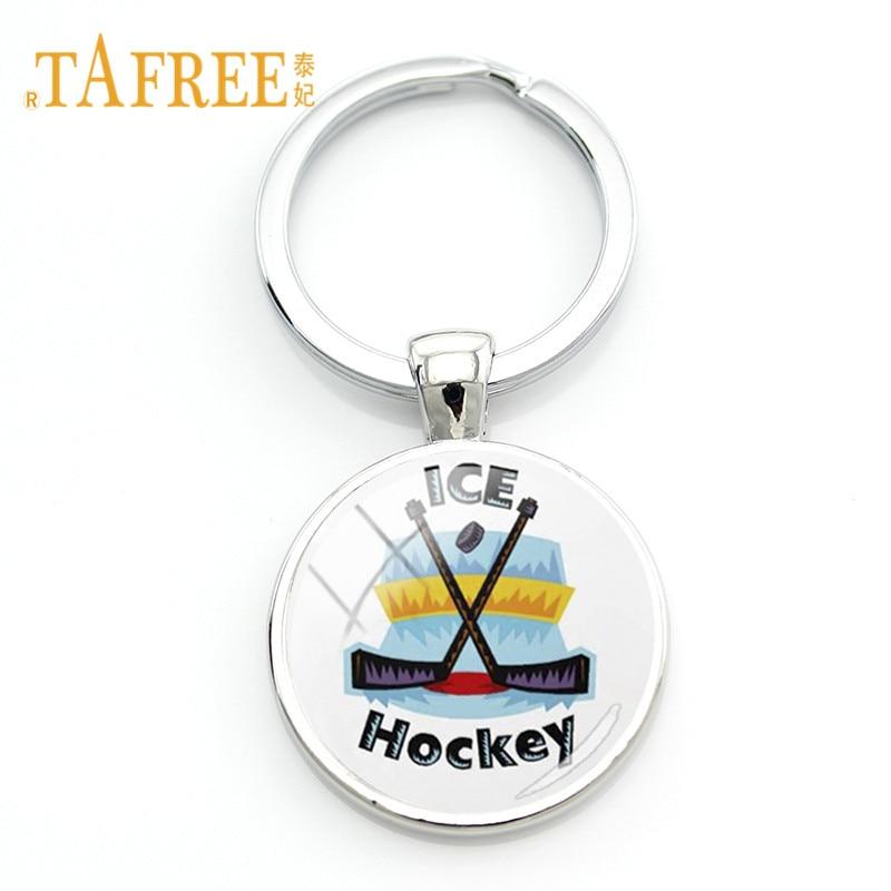 TAFREE High Quality Ice Hockey Stick Keychain Key Ring Hockey Lovers Fans Key Chain Casual/Sporty Jewelry HY18