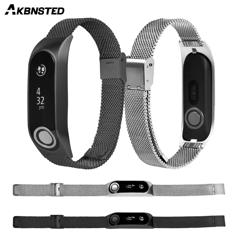 AKBNSTED Milanese Loop Stainless Steel Replacement Strap For Tomtom Touch Watch Wristband Strap Metal Bracelet Accessories