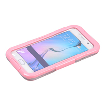 Pink Waterproof Case Shockproof Touch Screen Gel Swimming Cover For Samsung Galaxy S6 Free Shipping