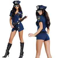 Sexy Police Costume For Women Halloween Party Cosplay Costume Fancy Dress Party Night Club Stage Show