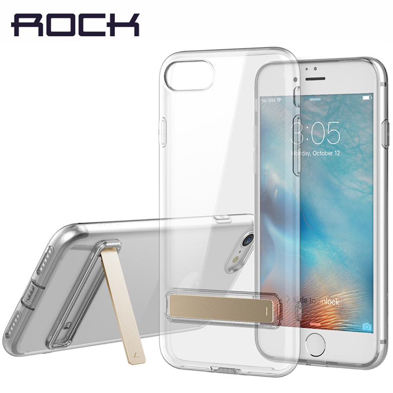 ROCK TPU Kickstand Case For iPhone 7/ 7 Plus Slim Crystal Rubber Stand Cover For iPhone7