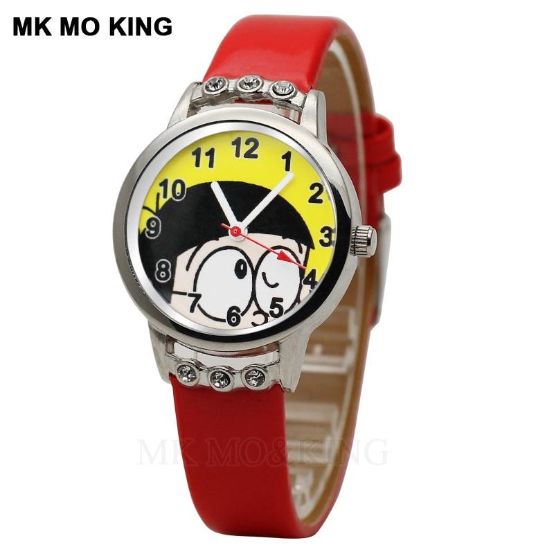 Mooie Kinderen Horloge Jongens En Meisjes Cartoon Doraemon Rinkelende Kat Primaire En Middelbare Scholieren Waterdichte Quartz Horloge Meer Kortingen Verrassingen