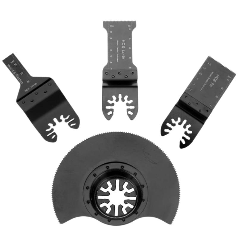 THGS 4Pcs/Set Hcs Oscillating Saw Blades Accessories Multi Tool Saw Blades Power Wood Cutting Tool Bits