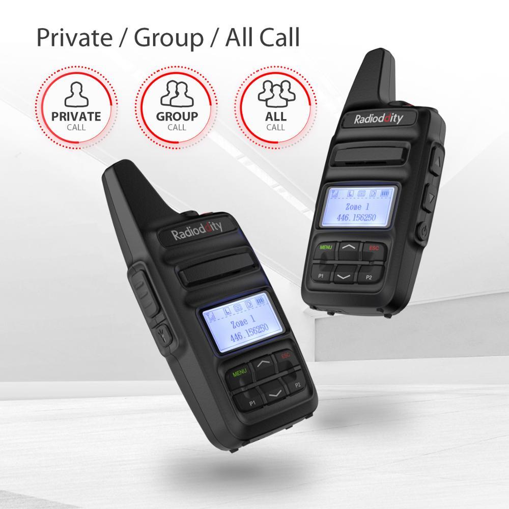 חלקי חילוף לקטנועים Radioddity GD-73 A / E מיני DMR UHF / PMR IP54 USB תוכנית & Charge 2600mAh SMS Hotspot השתמש 2W 0.5W מפתח בהתאמה אישית שני הדרך רדיו (2)