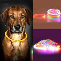 2016 New Dog Collars LED Glowing Dog Collar LED Flash Light USB Charging Pet Dog Collar