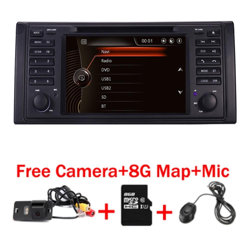 D'AC Original 2 din lecteur DVD de Voiture pour bmw e53 E39 X5 Avec GPS Bluetooth Radio RDS USB SD Directeur roue Libre de contrôle Caméra carte