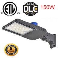 150w outdoor led street lamp with Photocell sensor parking lot shoebox light waterproof flood light UL DLC ETL road lighting
