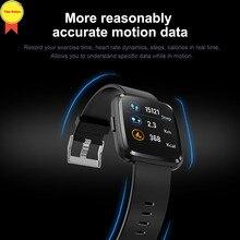 цена на 2019 1.3 inch full screen all in touch smart watch smart bracelet Multi-sport mode wrist band heart rate sleep BP monitor watch