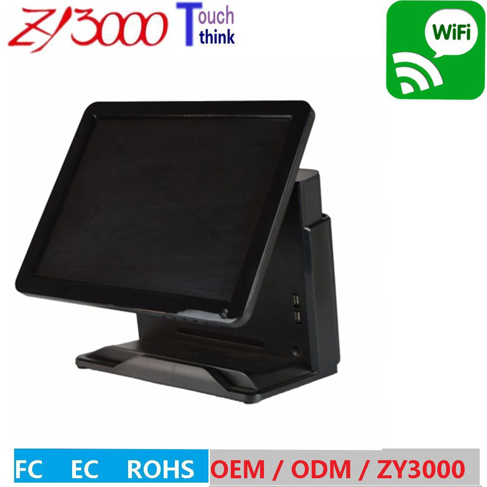 black Q81037u 4G 64G SSD capacitive touch screen pos system all in one Touchscreen POS Terminal with NFC Reader truth flat all in one 15 touch pos terminal machine ssd 4gb ssd 64gb j1900 quad core fanless pos with cash drawer