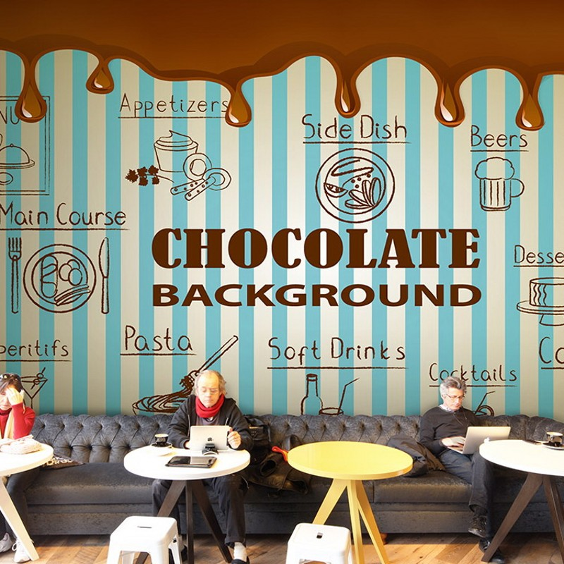 Custom photo wallpaper hand painted coffee cup wood brick 3d wallpaper coffee cafe drinks shop decoration background mural цена и фото