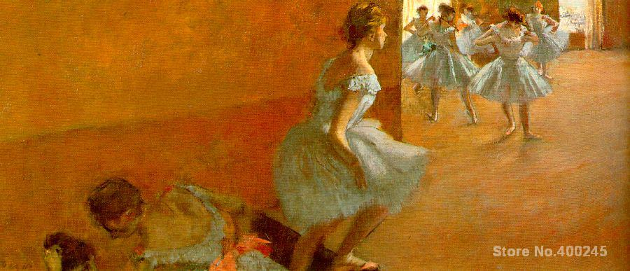 Dancers Climbing the Stairs by Edgar Degas paintings For sale Home Decor Hand painted High quality