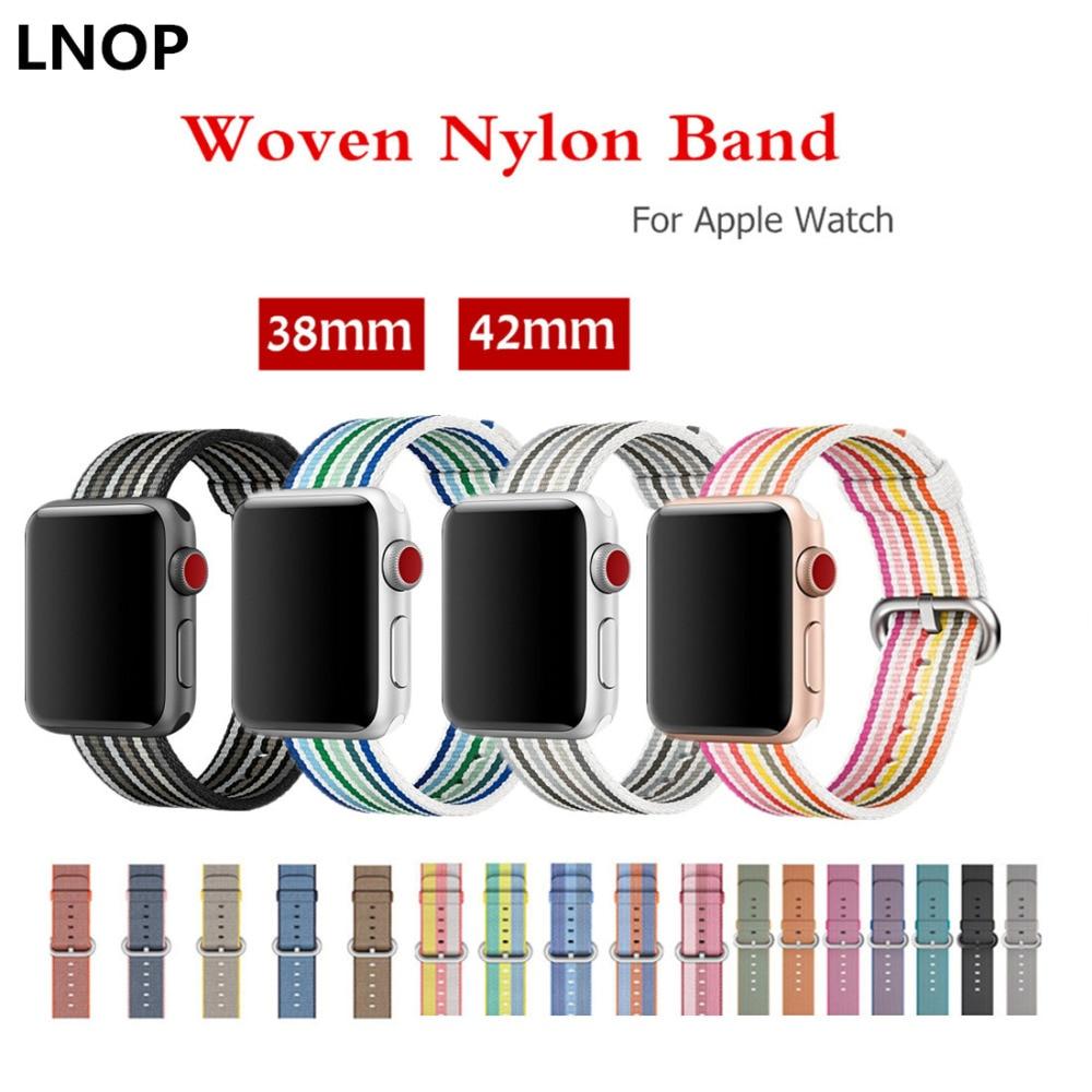 LNOP sport bands For Apple Watch band 42mm 38mm woven nylon iwatch strap series 3/2/1 men woman wrist band bracelet belt