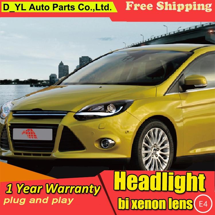Car Styling For Focus headlights 2012 2015 Focus led headlight Head Lamp led drl projector headlight