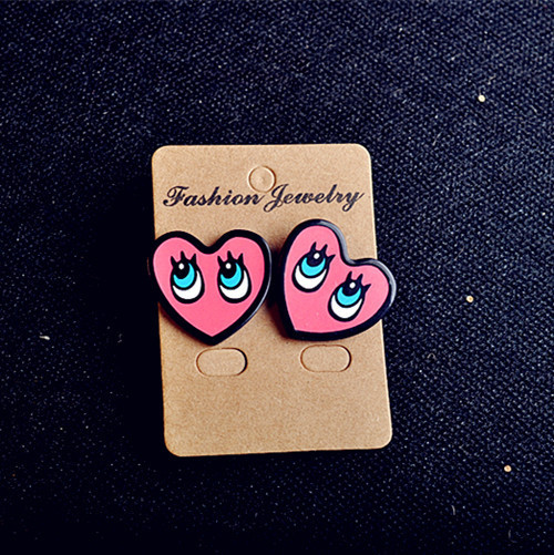 Fashion Sexy Lips Letter Cute Heart Stud Earrings For Women Gift Night Club Punk Jewelry Accessories