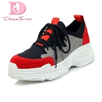 DoraTasia 2018 Plus Size 29 46 Fashion Lace Up Woman Vulcanize Shoes women fashion sneakers leisure Woman Shoes Footwear