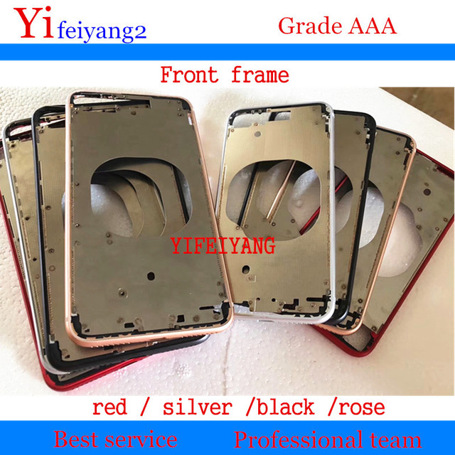 1pcs Front Bezel Chassis Frame cover housing For iPhone X XS XS Max XR 8 8g 8 plus  LCD Middle frame battery door