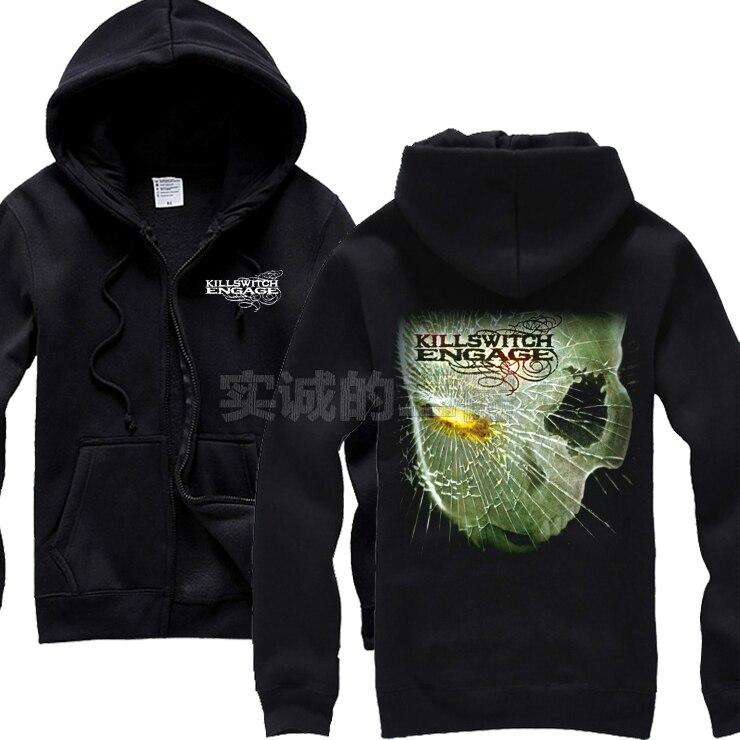Heavy 3 Hoodies Frais 7 Punk Survêtement 9 10 Veste 6 1 5 Metal Engage Killswitch Éclair 8 4 Coton Lotus 10 2 Sweat Hardrock Sortes Fermeture Rock D'hiver Rq5wq07