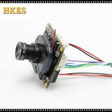 H.264 1080P 720P 960P 1.8mm lens CCTV IP camera module board with LAN cable IRCUT ONVIF P2P
