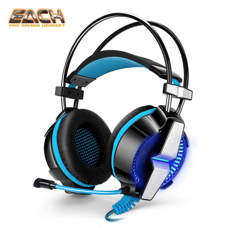 KOTION EACH G7000 7.1 USB Surround Vibration Professional Gaming Headset PC Headphone Computer Headband with Mic LED for Gamer kotion each g9000 7 1 surround sound gaming headphone game stereo headset with mic led light headband for ps4 pc tablet phone